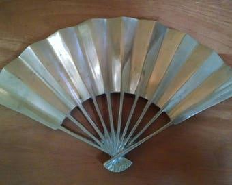 Vintage Brass Fan Trivet, Hot Plate