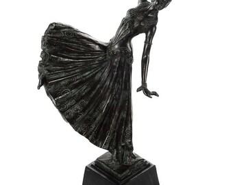 Chiparus -Dancing Girl - Beautiful Vintage Art Deco Bronze Sculpture