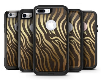 Dark Gold Flaked Animal v6 - OtterBox Case Skin-Kit for the iPhone, Galaxy & More