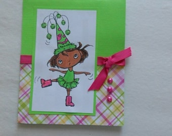 Any Occasion  Greeting Card Little Girl