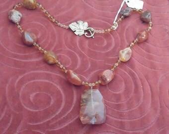 Volcanic Cherry Quartz Necklace
