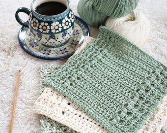 Crochet Dishcloth Pattern - DIY Hand Towel - Crochet Pattern - River's Edge P116