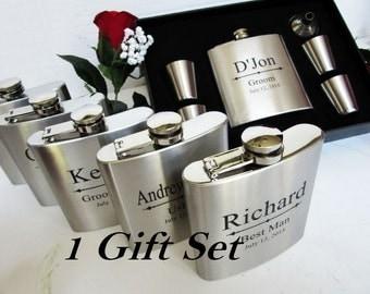 Set Of 1 Flask Gift In Presentation Box Groomsmen Ideas