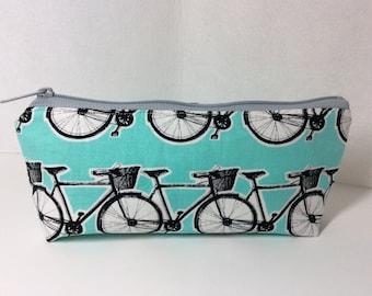 Bicycle Pencil pouch/ Makeup bag