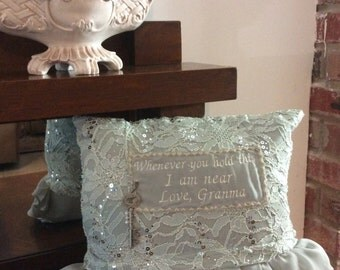 Memory Pillows with Ruffles and Lace
