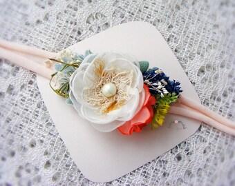 Newborn big flower tieback prop, Baby headband, Newborn flower crown, Photography props, Newborn halo, Baby headband, Baby flower tieback