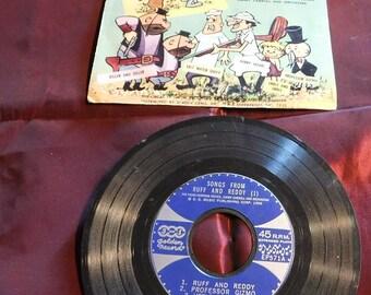 Vintage Little Golden Records Ruff & Reddy 45RPM
