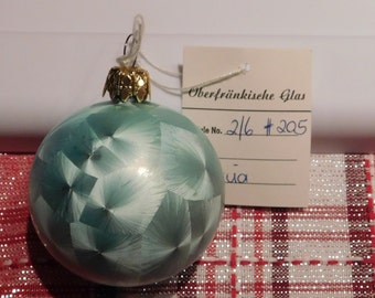 Oberfrankishe Glas Teal Color Made in West Germany