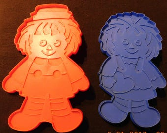 Vintage Raggedy Ann & Andy Large Cookie Cutters