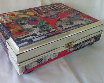 Repuposed Decorative Cigar Box
