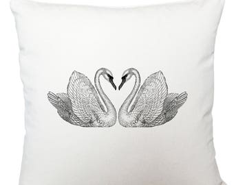 Cushions/ cushion cover/ scatter cushions/ throw cushions/ white cushion/ swans cushion cover