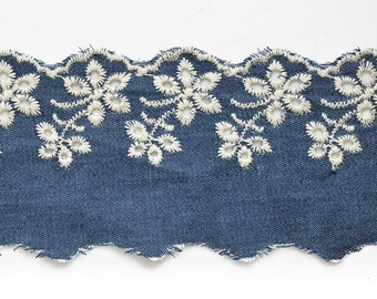 "2-1/2"" Embroidery English Lace Trim by 1-Yard, STEP-5311"