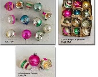 1 Dozen Vintage Shiny Brite Christmas Ornaments (Inventory #CH1024)
