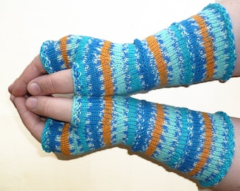 Knit Fingerless gloves | Arm warmers | Womens Fingerless | Long Fingerless Mittens | Wrist warmers | Boho Gloves |