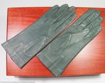 Vintage gray leather gloves, size 7 kidskin gloves, never used vintage dress gloves, driving gloves in excellent condition