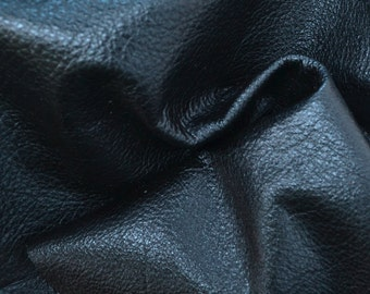 "Sapphire Twilight Metallic ""Vegas"" Leather Cow Hide 12"" x 12"" Pre-Cut  3 ounces grainy TA-51946 (Sec. 8,Shelf 4,A)"