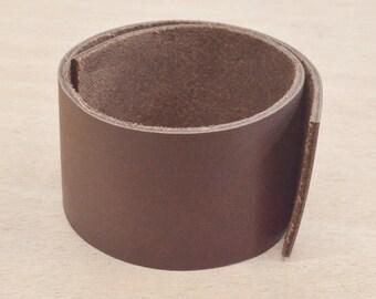"Dark Brown OIL TAN Leather Strap 1 1/2"" x 12"" Strip 4-6 oz Hide MI-52691 (Sec. 7, 1)"