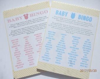 Baby Shower game. Baby shower bingo