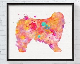 Watercolor Bearded Collie Art - Bearded Collie Print - Bearded Collie Painting - Dog Wall Art - Watercolor Dog Print - Dog Lover Gift,  Art