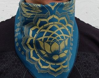 Sacred Geometry Bandana - Lotus world - Honeycomb Twist