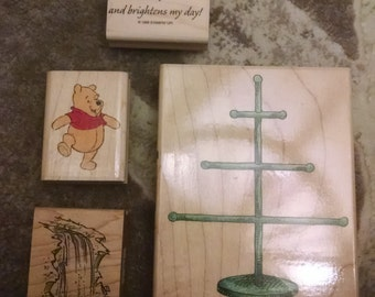 Pooh Rubber Stamp Etsy