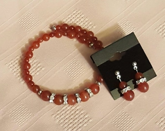 Gemstone Jewelry Set 14 - Bracelet and Earrings