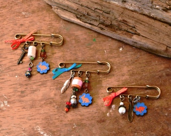 Brooch, Pin, Rabbit Scarf Pin, Charms