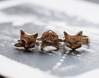 Cast Bronze Kitty Ring