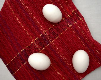 Handwoven Cotton Kitchen Towel in Cherry Red kt022h