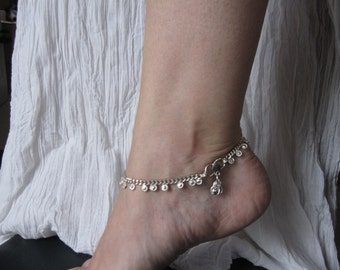 Anklet silver small flower 3