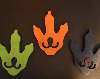 Dinosaur feet coat racks quanitys 1, 2, 3, 4, 5 or 6 / price per foot / Kids Room Decor Hanging / Storage hooks