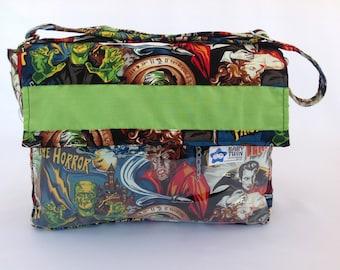 Stroller Bag (style 1) - Monsters /lime