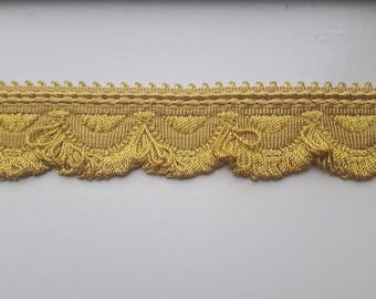 Vintage french trimming; antique gold trimming drapes or upholstery