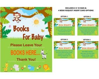 Safari Book Request, Jungle Book Request Card, Bring Book Insert, Printable  Bring A