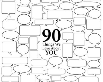90 Things We Love About You - Vector Art