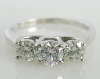 Beautiful 14K White Gold Diamond Engagement Ring