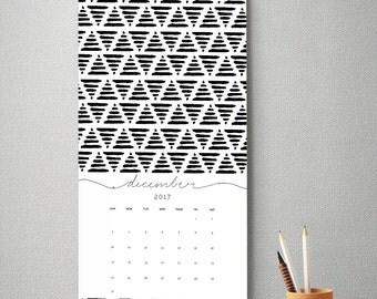 2017 Wall Calendar, 9.5 x 17.25, Wall Calendar, Gift for Her  (cal0015)