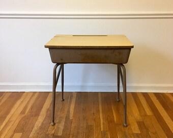 Heywood Wakefield School Desk Nightstand Side Table