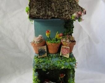 Spring garden potting hutch