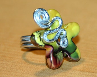 ring wire Daisy Green