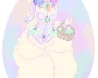 Easter Bunny monster girl tanktop