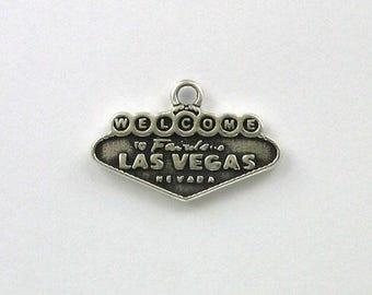 Sterling Silver Las Vegas Sign Charm