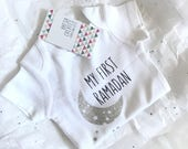 My first ramadan Bodysuit for children, Ramadan gift, white