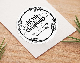 Printable Boho Holiday Stickers | Instant Download PDF | Printable Gift or Favor Stickers | Rustic Holiday | Package & Journal sticker