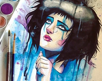 SALE -10 OFF- Siouxsie Sioux watercolor