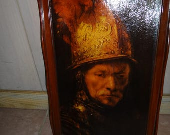 Print by Rembrandt. The man with the Golden Helmet