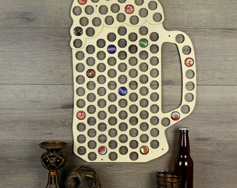 Bottle Cap Wall Art beer bottle cap holder wood beer cap display beer cap wall
