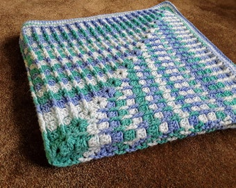 Ridged Granny Stitch Afghan / Granny Stitch Throw / Granny Stitch Lapghan / Baby Shower Gift / Crocheted Blanket