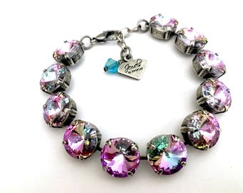 Vitrail Light •  12mm Swarovski Crystal Bracelet