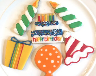 Birthday Cookies | Birthday Gift | Birthday Gift Ideas | Birthday Gift For Him | Birthday Party | Birthday Party Favors | One Dozen